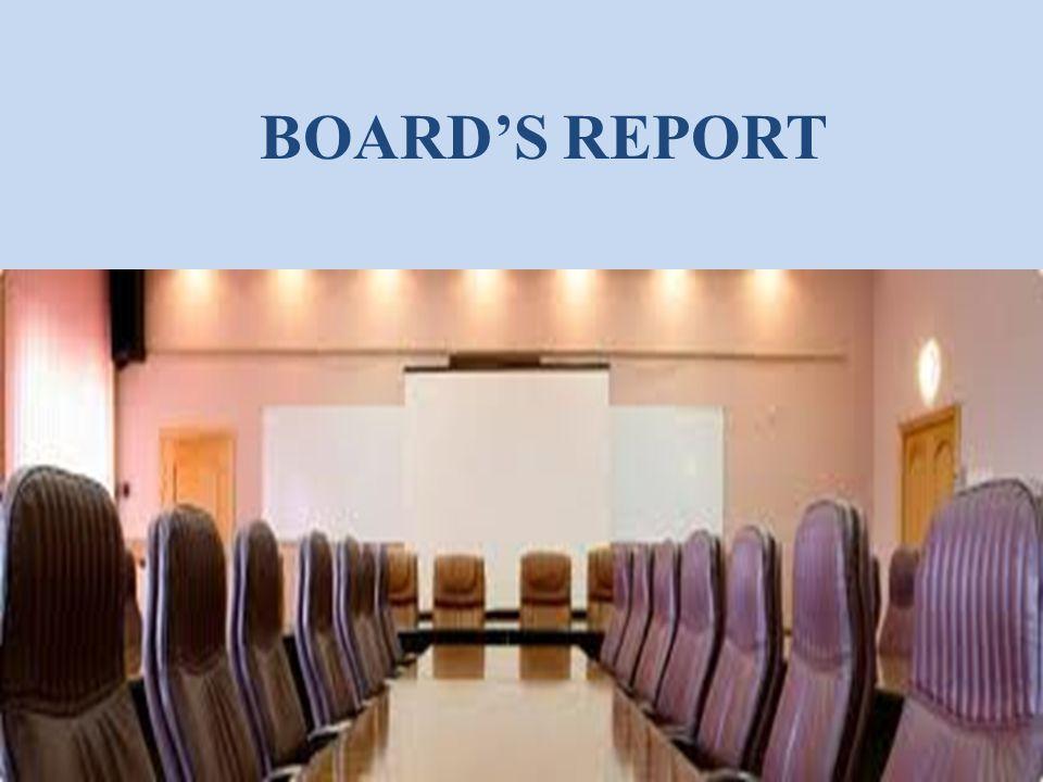 BOARD'S REPORT