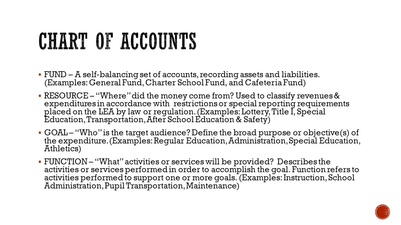  FUND – A self-balancing set of accounts, recording assets and liabilities.