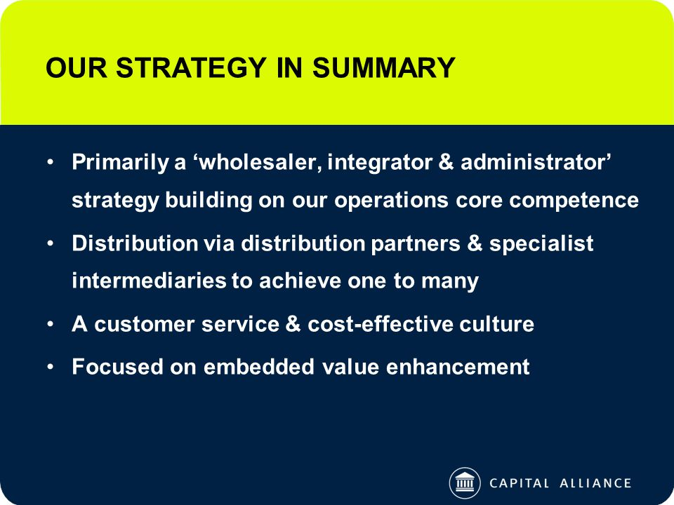 2004 OBJECTIVES Key initiatives are: –Enhance systems capability to deliver on specific requirements of local & international TPA opportunities –Improve positioning to deliver the business –Leverage our investment in Australia where appropriate to further our integration strategy 3.