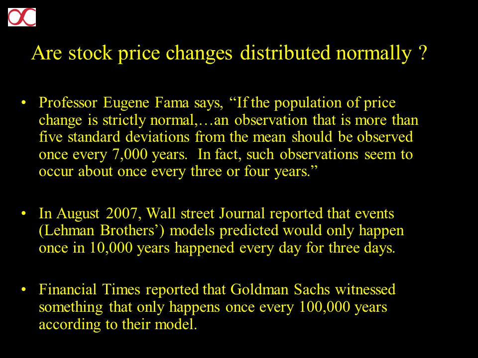 Are stock price changes distributed normally .