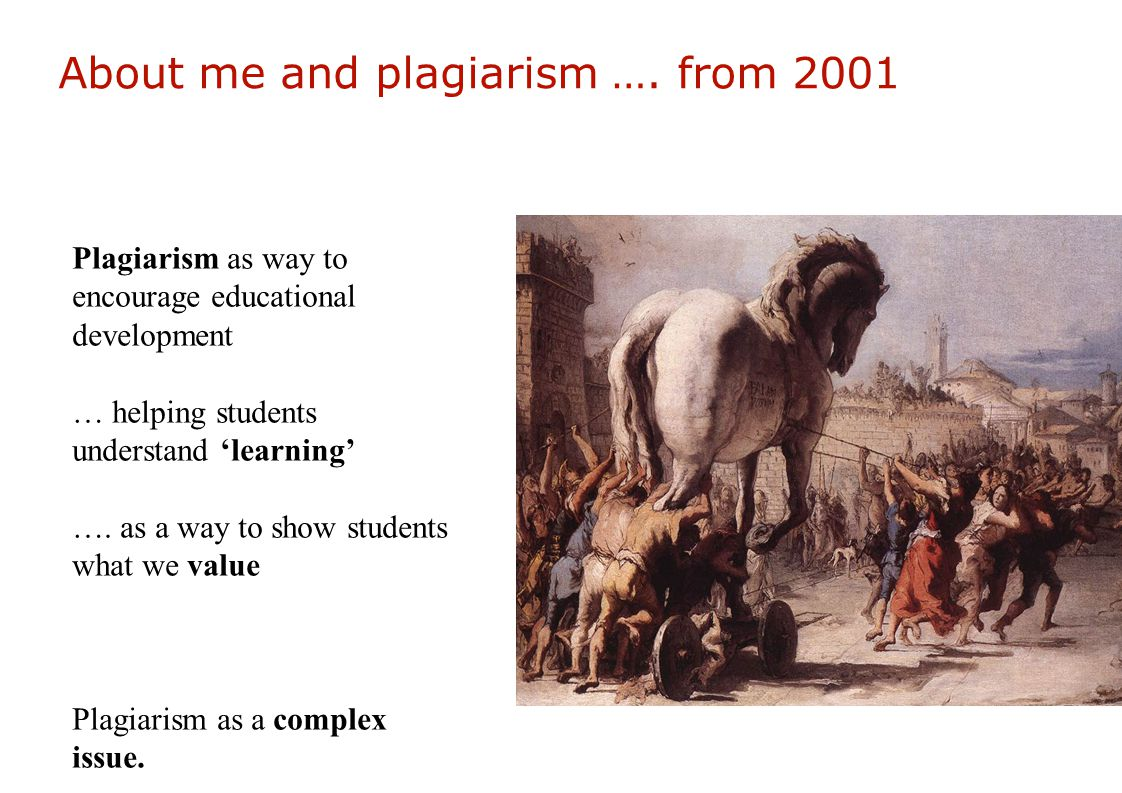 About me and plagiarism ….