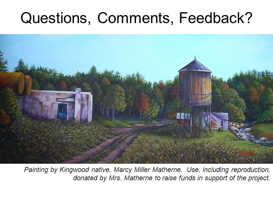 Questions, Comments, Feedback. Painting by Kingwood native, Marcy Miller Matherne.