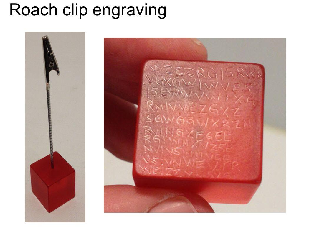Roach clip engraving