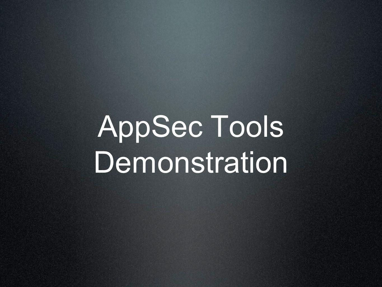 AppSec Tools Demonstration