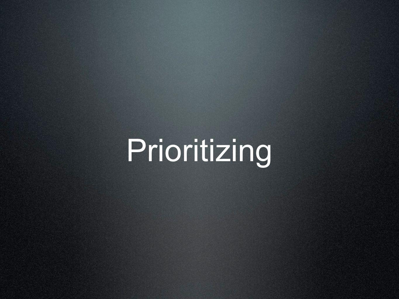Prioritizing