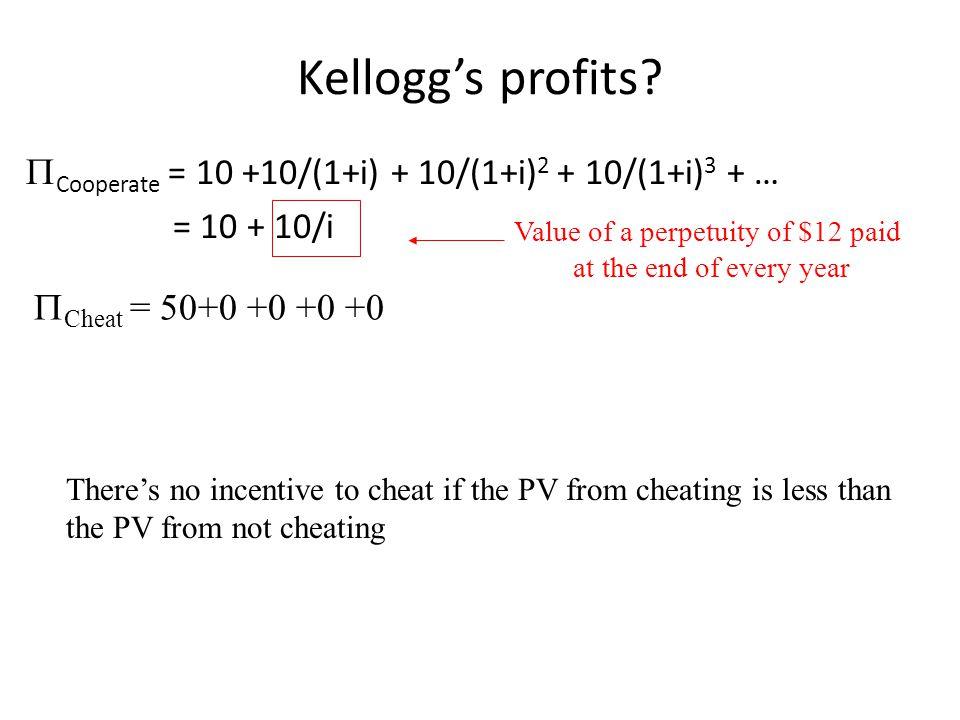Kellogg's profits.