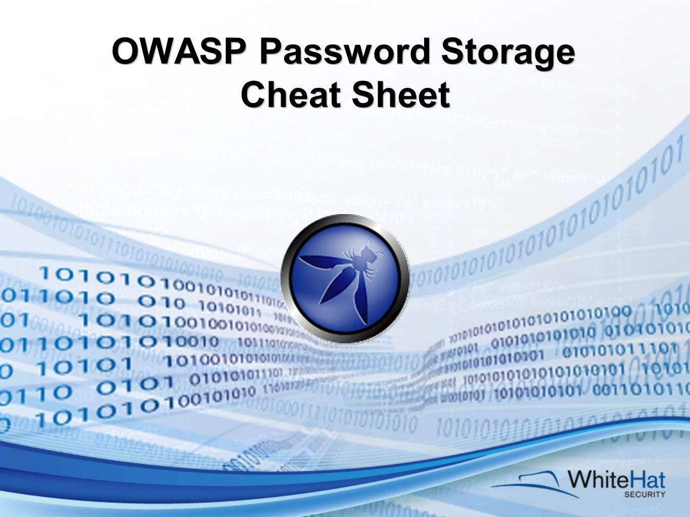 OWASP Password Storage Cheat Sheet