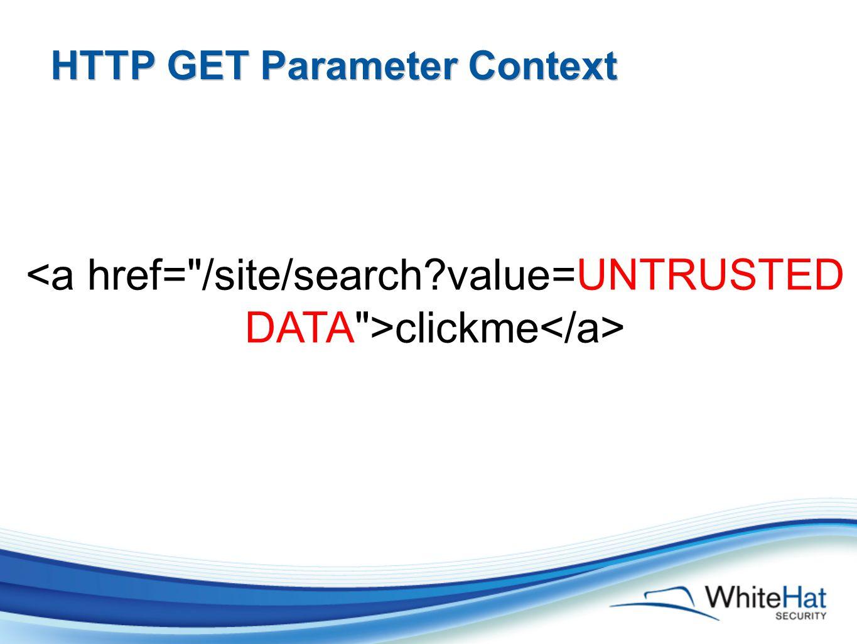 HTTP GET Parameter Context clickme