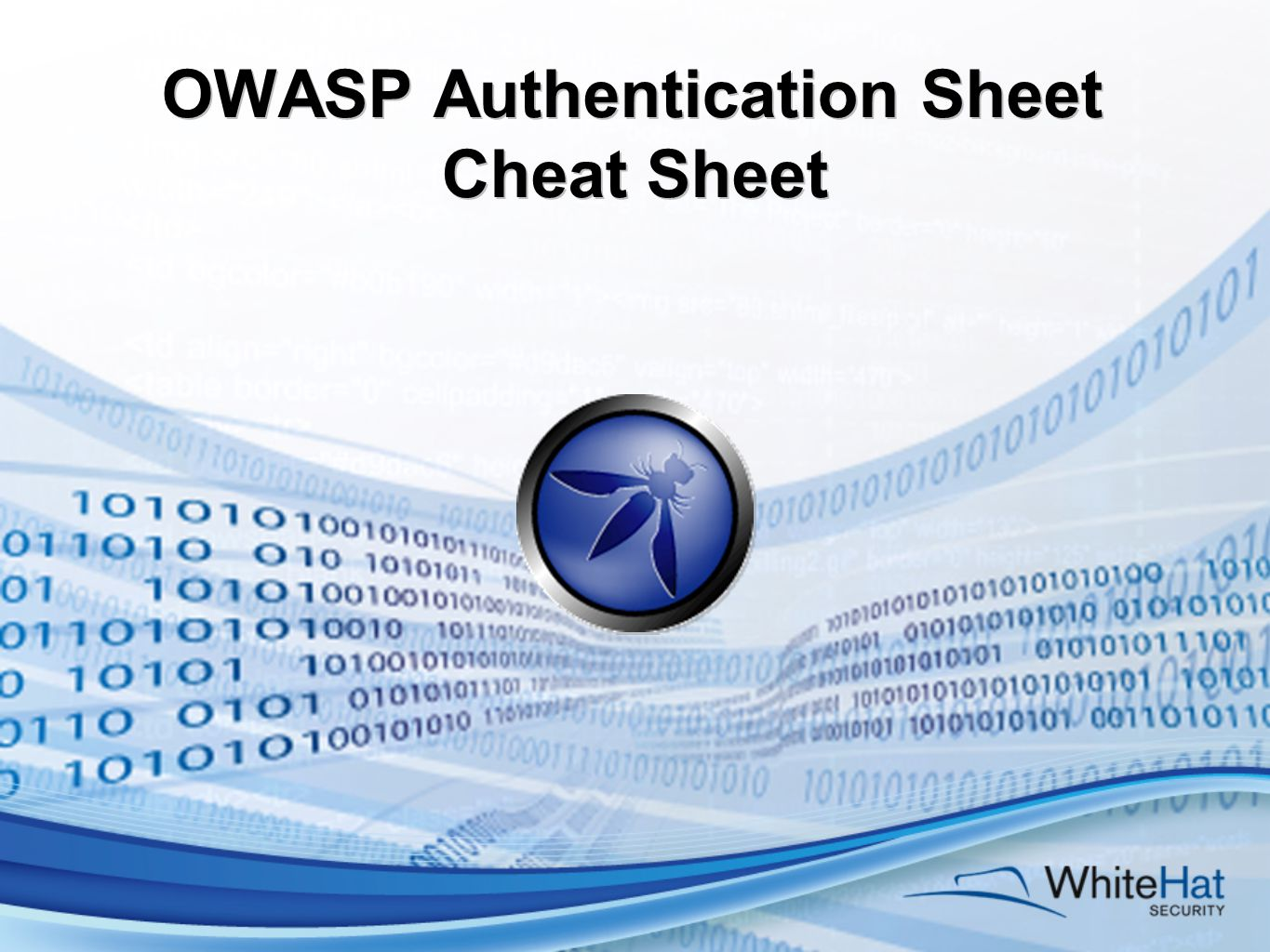 OWASP Authentication Sheet Cheat Sheet