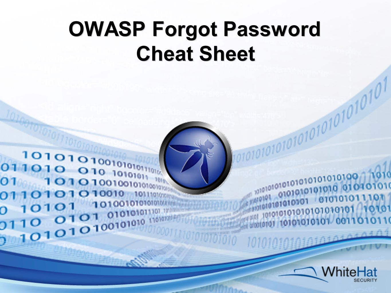 OWASP Forgot Password Cheat Sheet