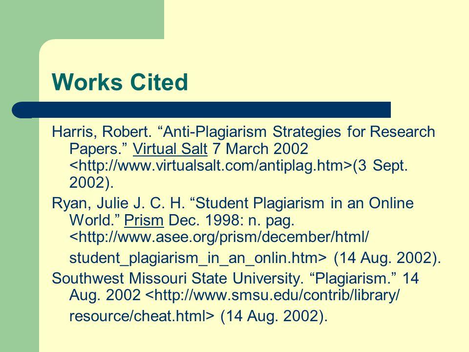 Works Cited Harris, Robert.