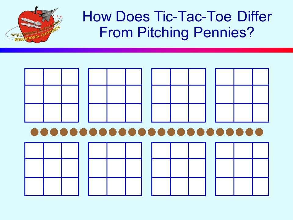 How Does Tic-Tac-Toe Differ From Pitching Pennies?