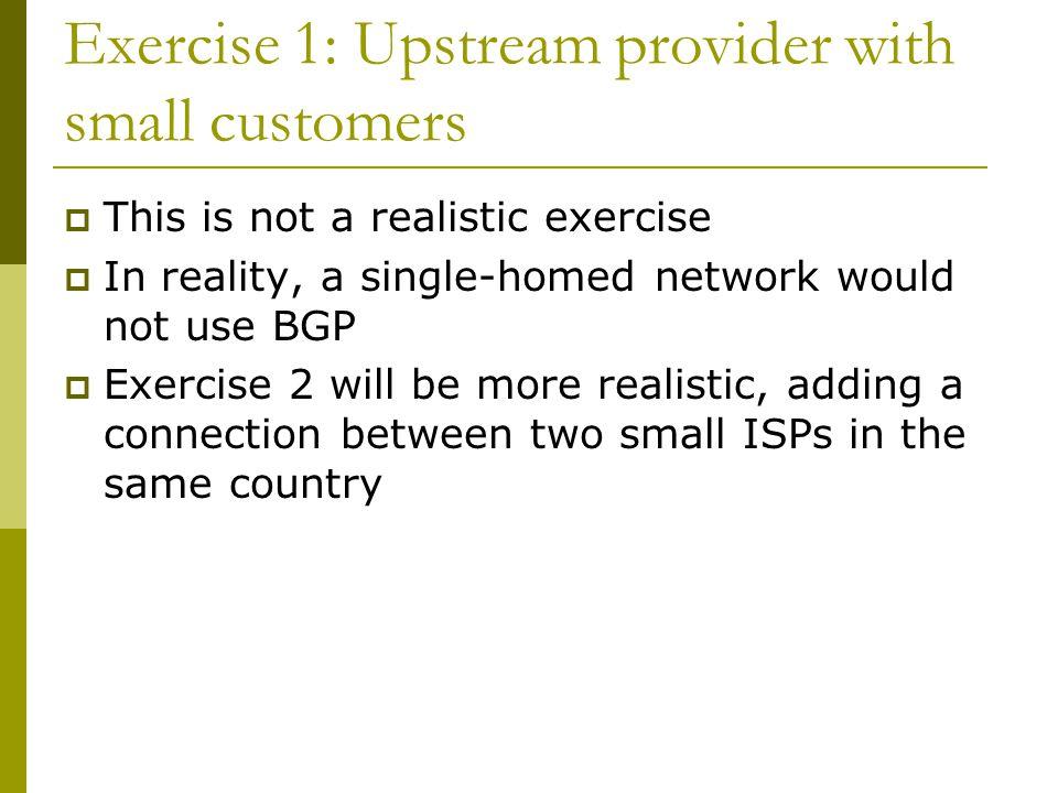 BGP Exercise 5 Internal BGP (iBGP)