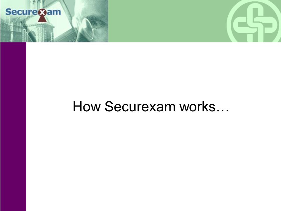 How Securexam works…