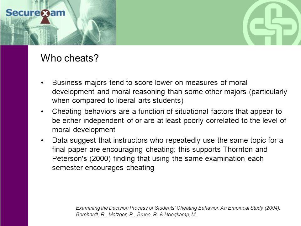 Who cheats.