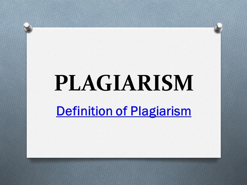 PLAGIARISM The Big Deal : Analogies