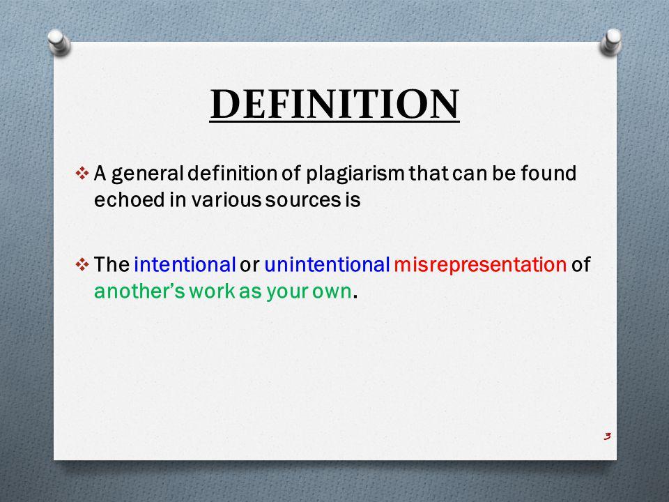 PLAGIARISM Examples of Plagiarism