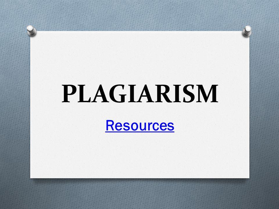 PLAGIARISM Resources
