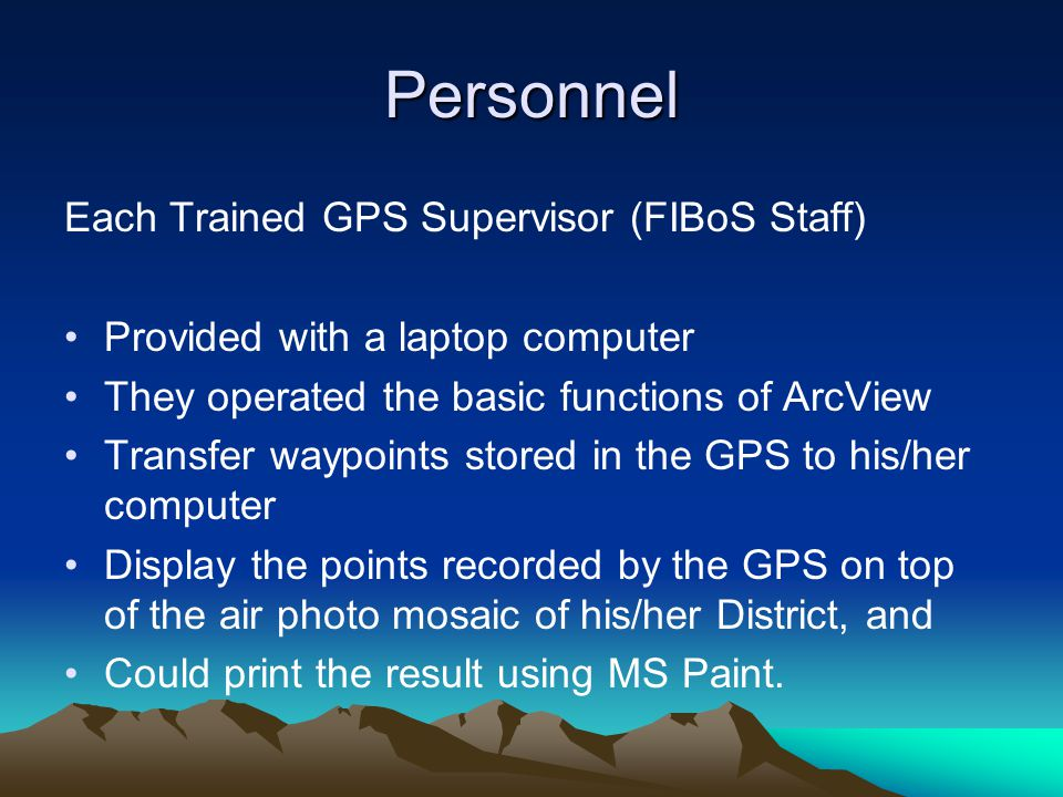 Personnel GPS Operators and Supervisors were provided a 'Cheat Sheet': a step-by-step summary of a particular action compressed onto one page.