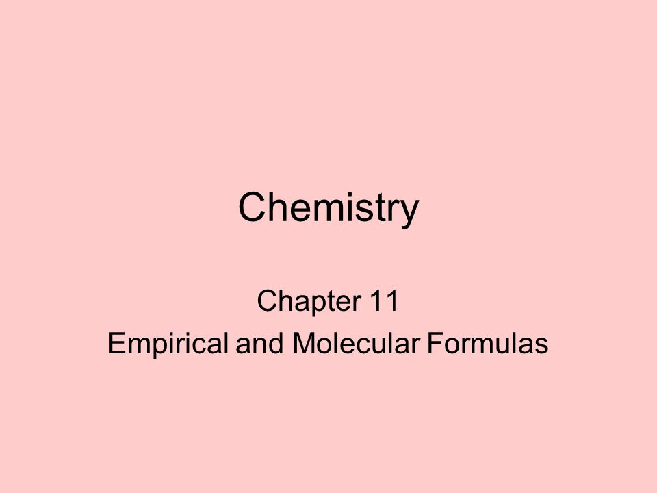 Empirical Formulas The simplest whole number ratio of the elements in a compound (not necessarily the actual formula for a compound) Ex –H 2 O 2 = HO –H 2 O= H 2 O –C 6 H 12 = CH 2 –C 8 H 16 = CH 2 Can be calculated from % composition