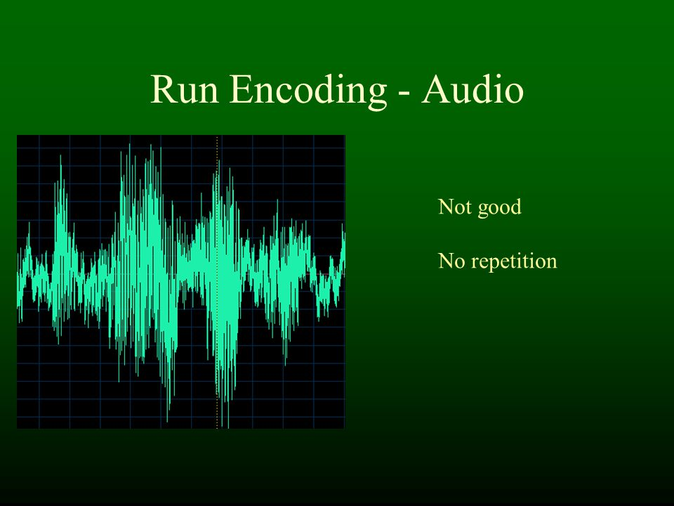 Run Encoding - Audio Not good No repetition