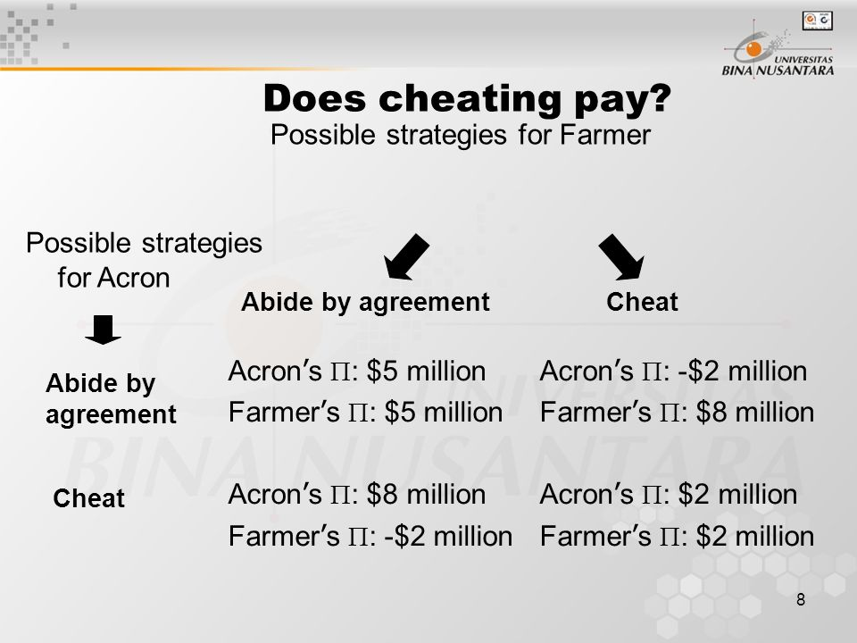 8 Does cheating pay.
