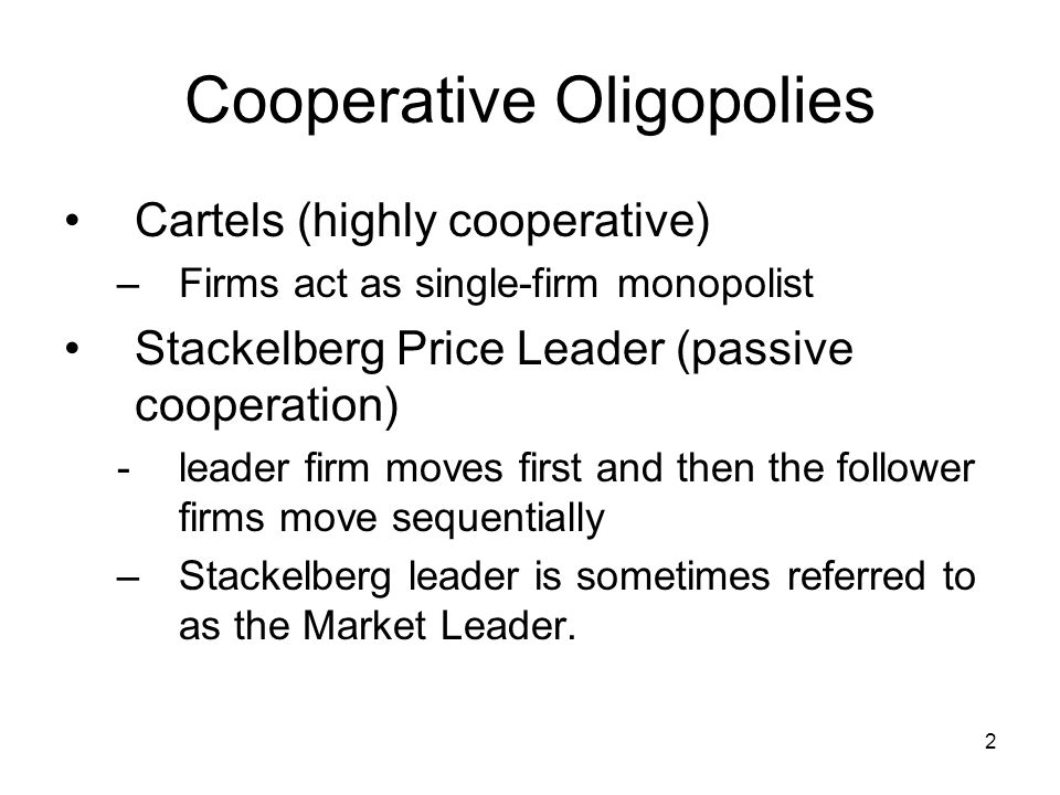 3 Where We're Going How do we tell if a market is an oligopoly.