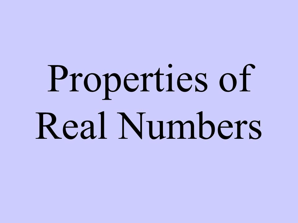 Commutative Property of + or x 1 + 2 = 2 + 1 or 2  3 = 3  2 Two numbers switch places.