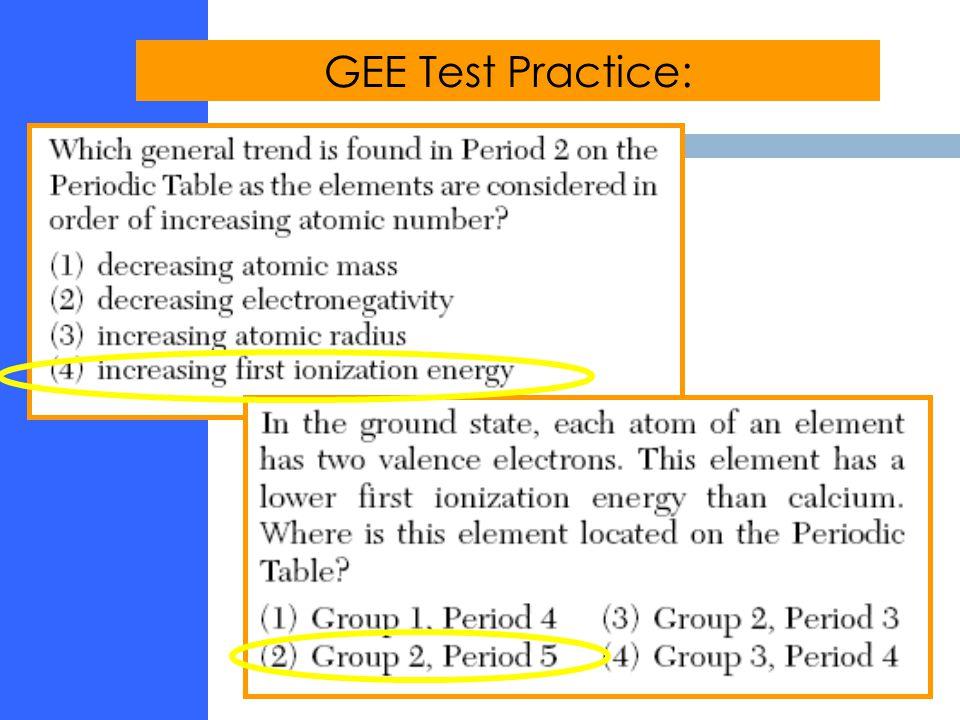 GEE Test Practice: