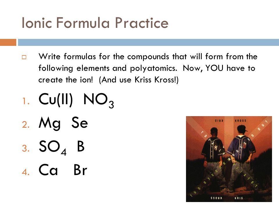 Naming Ionic Compounds BaCO 3 Barium