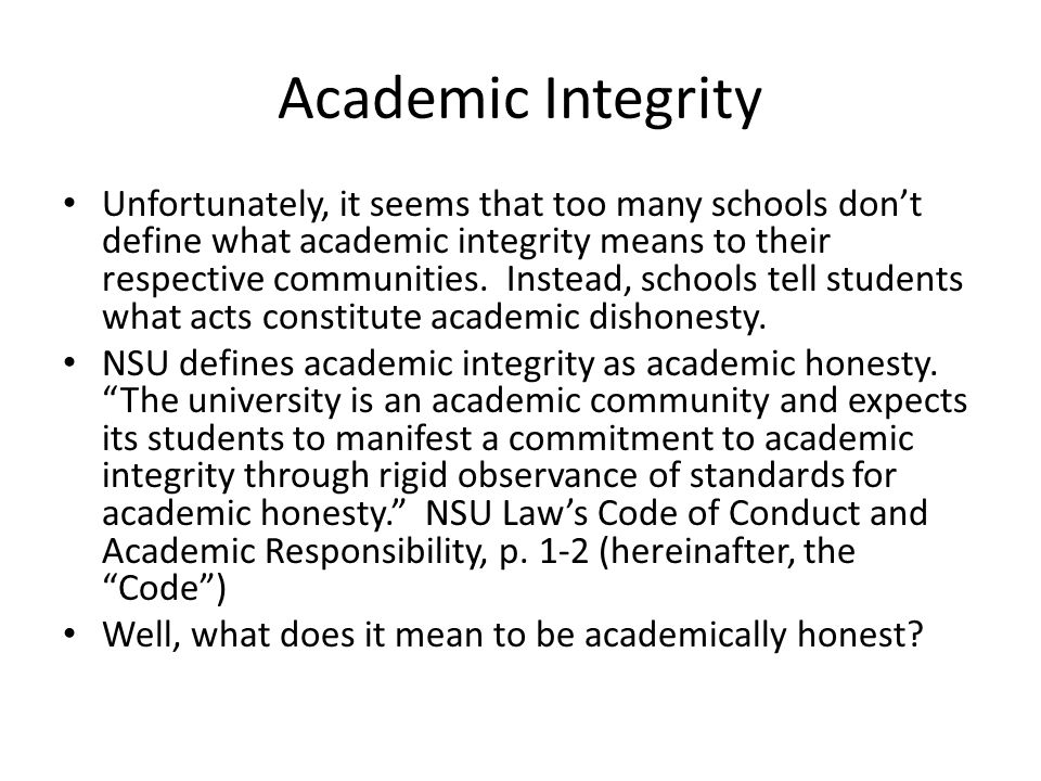 What about here at NSU.What did one of your administrators have to say about it.
