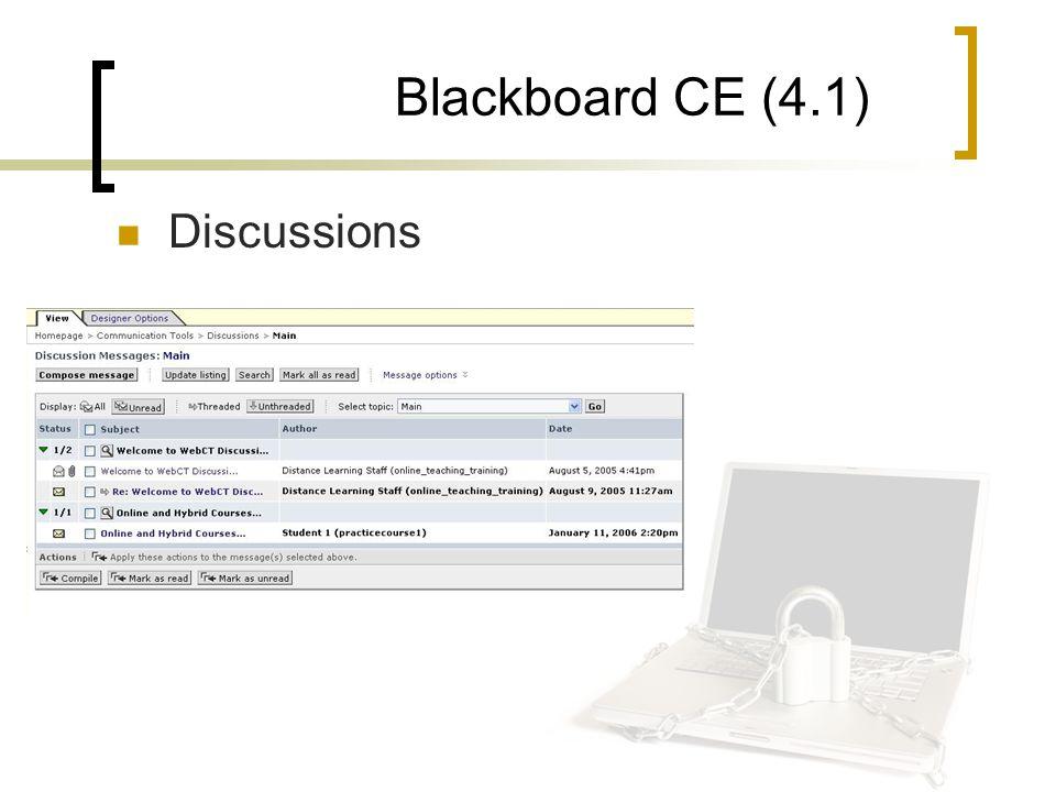 Blackboard CE (4.1) Discussions