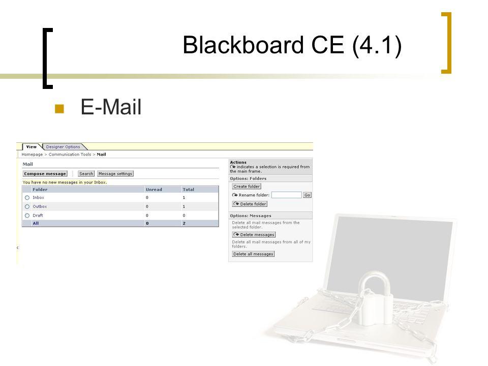Blackboard CE (4.1) E-Mail
