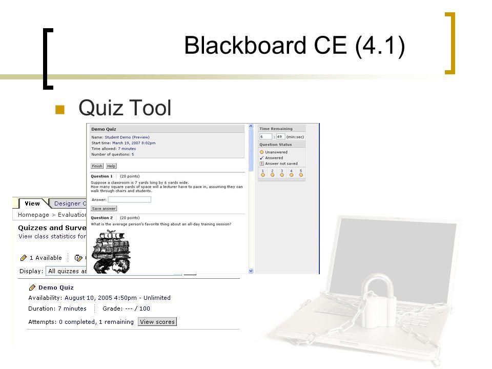Blackboard CE (4.1) Quiz Tool