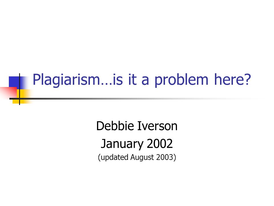 What is plagiarism .
