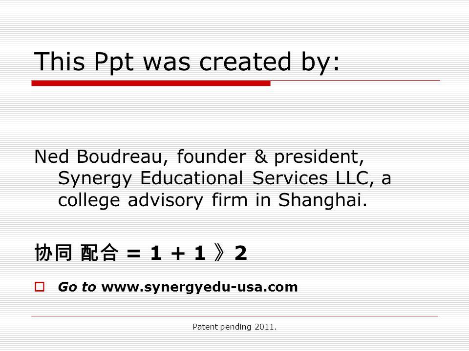 Patent pending 2011.
