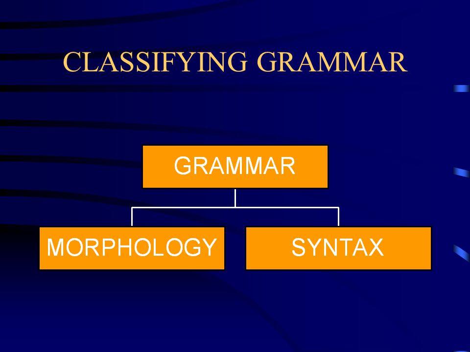 CLASSIFYING GRAMMAR