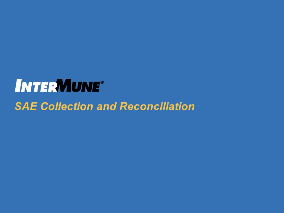 3 SAE Collection and Reconciliation