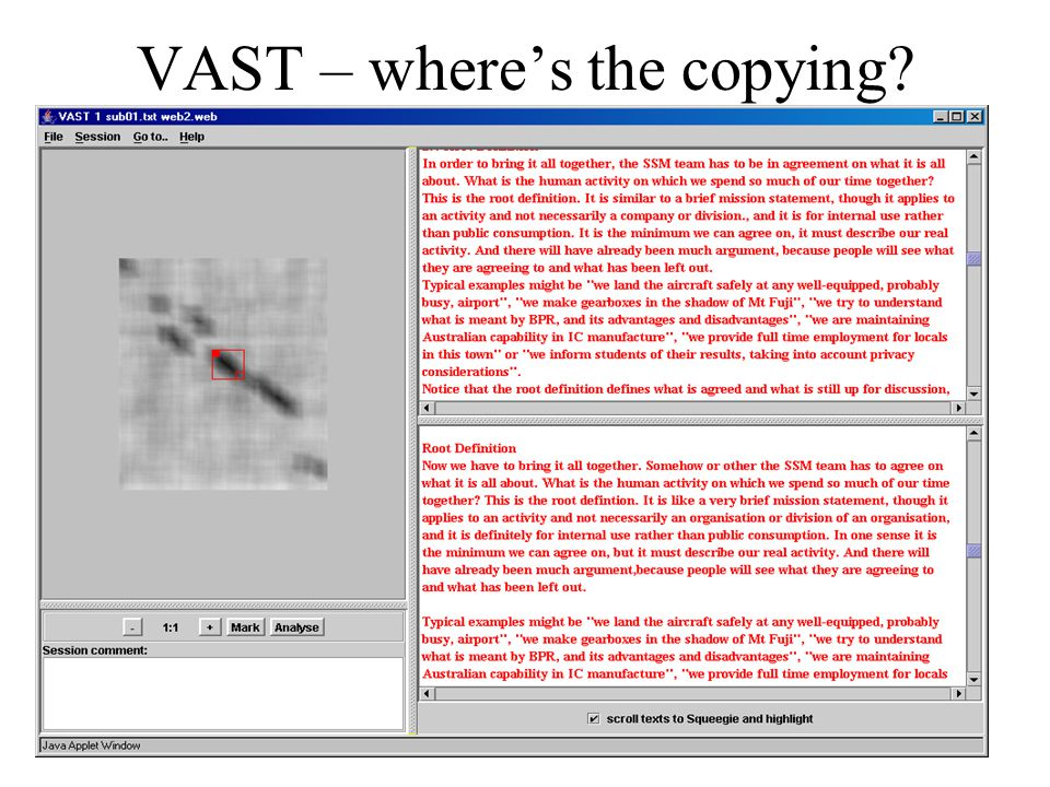 27 VAST – where's the copying?