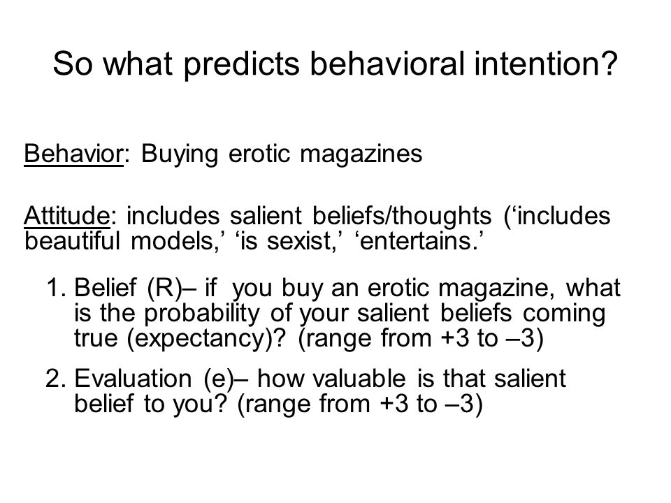 So what predicts behavioral intention.