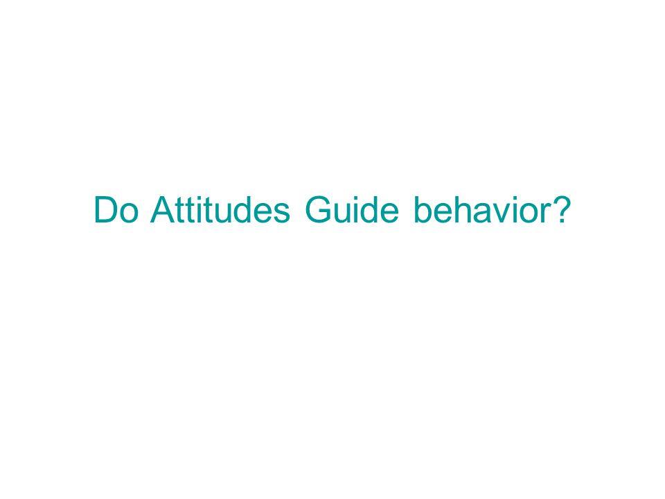 Do Attitudes Guide behavior