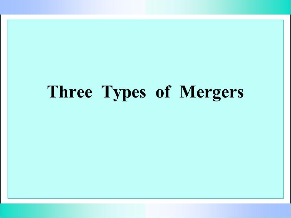Three Types of Mergers