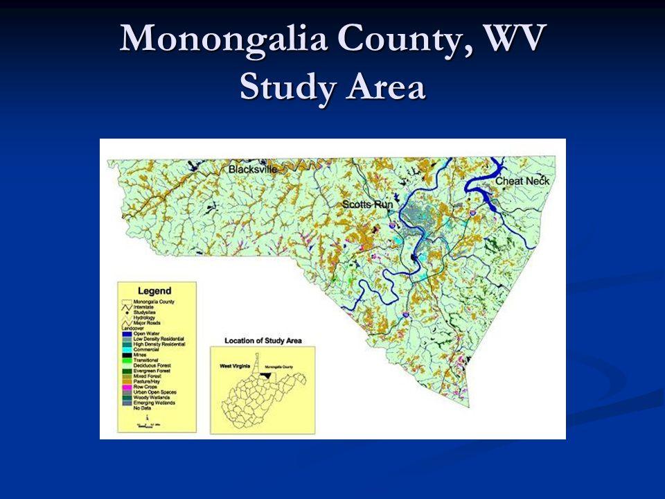 Monongalia County, WV Study Area