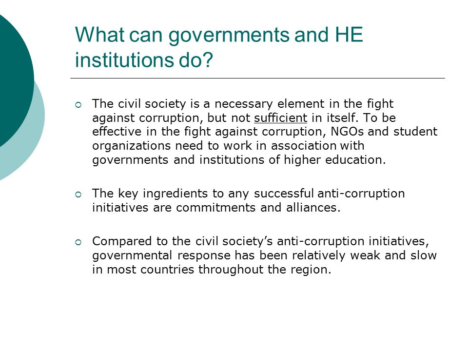 What can governments and HE institutions do.