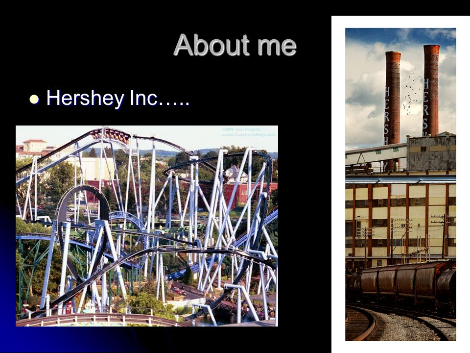 About me Hershey Inc….. Hershey Inc…..
