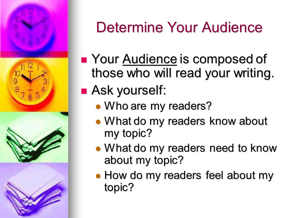 Audience continued...What do my readers expect. What do my readers expect.
