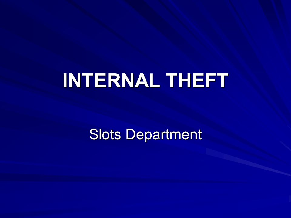 Internal Theft With the newer, high-tech safeguards, it nearly requires the collusion and conspiracy of an inside person, an employee of the casino, in order to successfully perpetrate a scam.