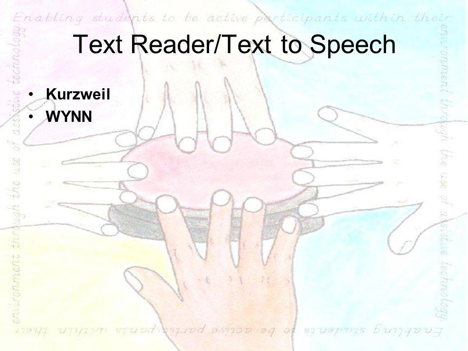 Text Reader/Text to Speech Kurzweil WYNN