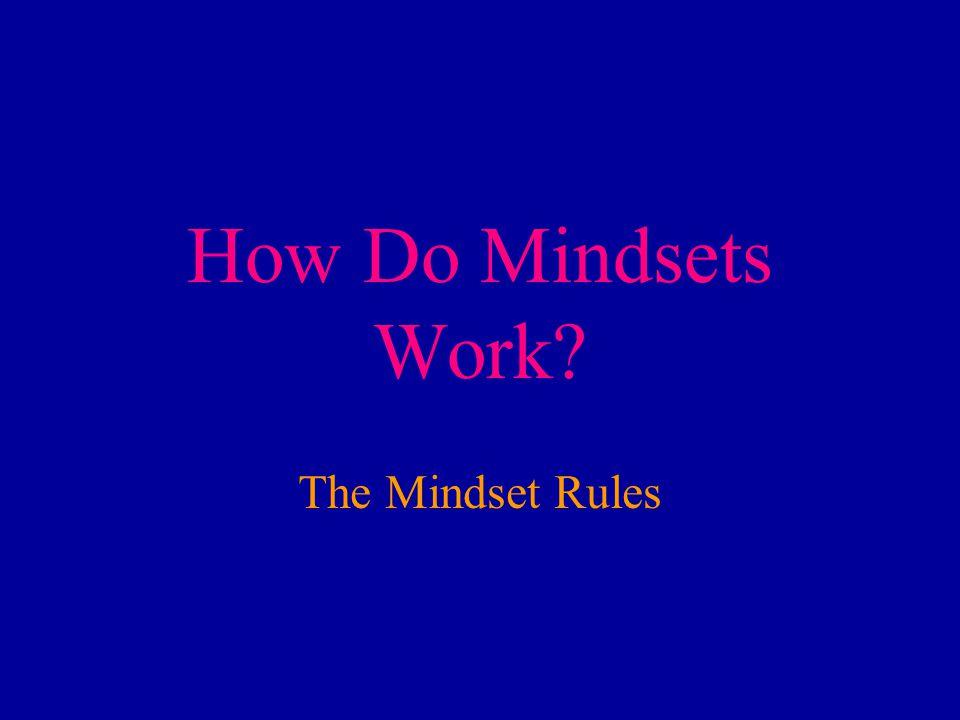 How Do Mindsets Work The Mindset Rules