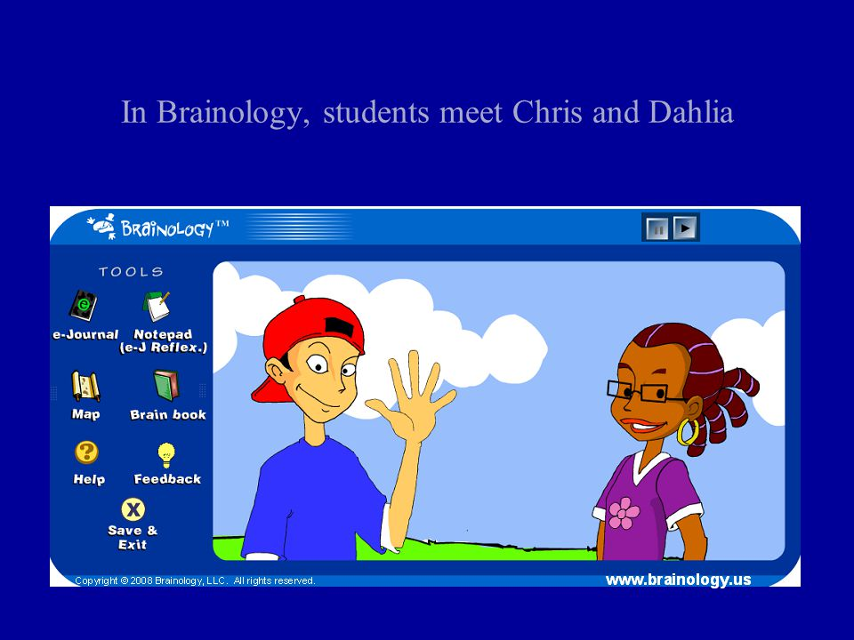 In Brainology, students meet Chris and Dahlia